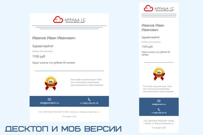 Дизайн и верстка адаптивного html письма для e-mail рассылки 10 - kwork.ru