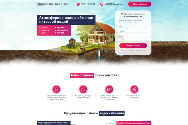 Дизайн Landing Page в PSD или Figma 16 - kwork.ru