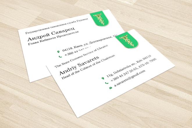 Дизайн визитки с исходниками 40 - kwork.ru