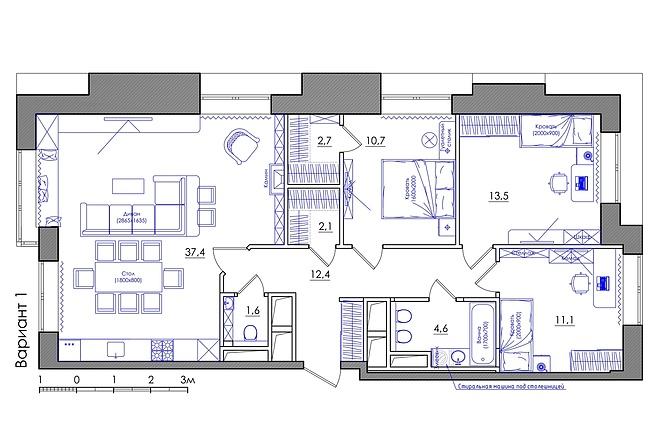 Планировка квартиры или жилого дома, перепланировка и визуализация 31 - kwork.ru