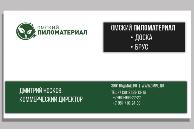 Дизайн двусторонней визитки 8 - kwork.ru