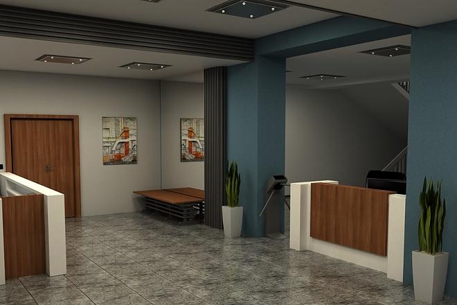 Создание 3д модели помещения по 2д чертежу 12 - kwork.ru