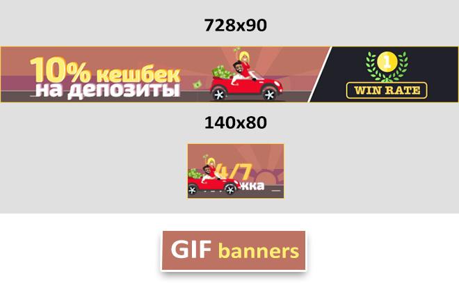Сделаю 2 качественных gif баннера 14 - kwork.ru