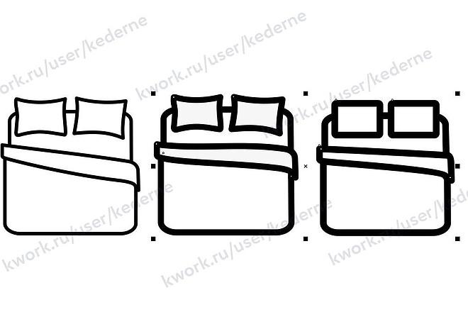 Нарисую 7 иконок в векторе 2 - kwork.ru