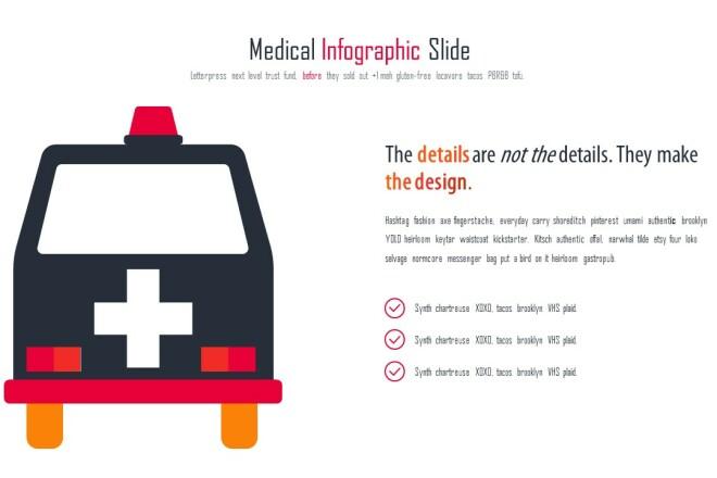 Инфографика на медицинскую тему. Шаблоны PowerPoint 17 - kwork.ru