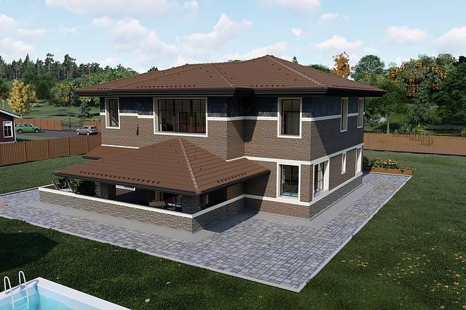 Фотореалистичная 3D визуализация экстерьера Вашего дома 190 - kwork.ru