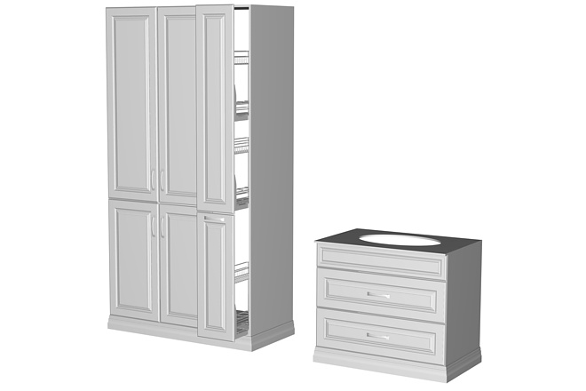 Визуализация мебели, предметная, в интерьере 22 - kwork.ru