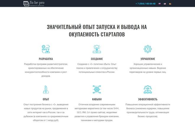 Создание продающих сайтов landing page 2 - kwork.ru