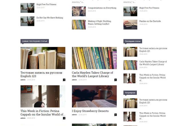 Создам красивый адаптивный блог, новостной сайт 10 - kwork.ru