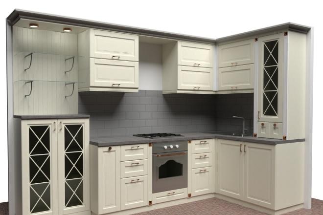 Фотореалистичная визуализация кухни 1 - kwork.ru