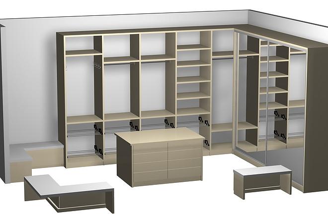 Визуализация мебели, предметная, в интерьере 32 - kwork.ru