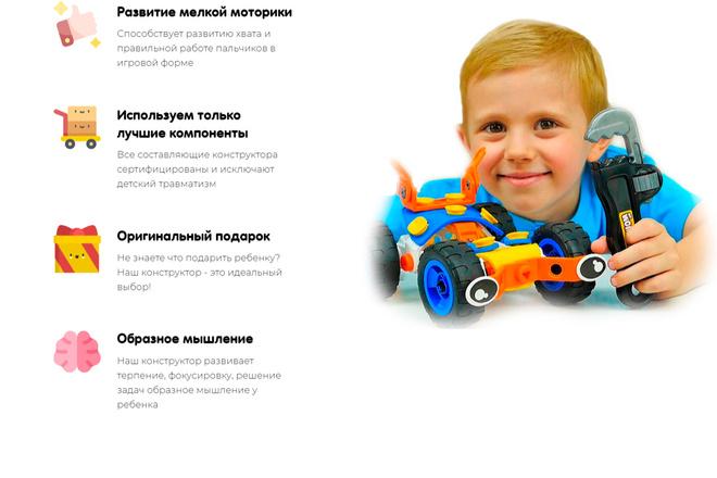 Создание Landing Page, одностраничный сайт под ключ на Tilda 27 - kwork.ru