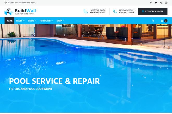 BuildWall - Шаблон сайта строительной компании на WordPress 4 - kwork.ru