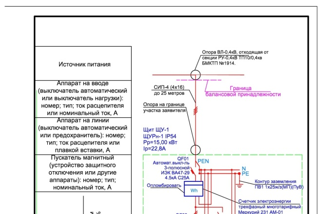 Выполню однолинейную схему электроснабжения 32 - kwork.ru