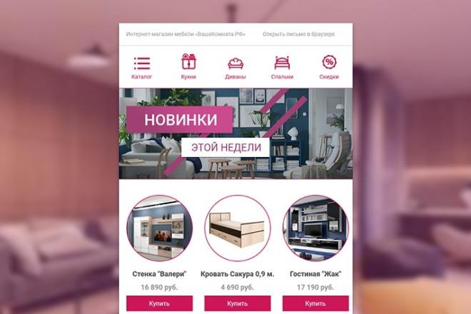Html-письмо для E-mail рассылки 100 - kwork.ru