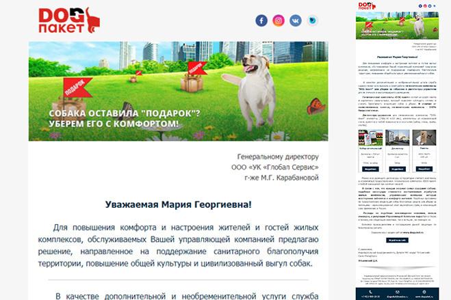 Дизайн и верстка адаптивного html письма для e-mail рассылки 72 - kwork.ru