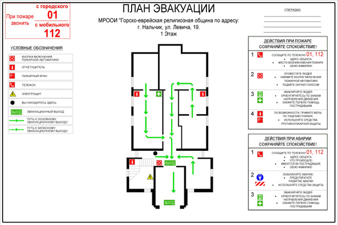 План эвакуации 5 - kwork.ru