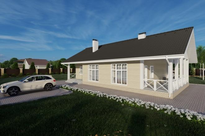 Фотореалистичная 3D визуализация экстерьера Вашего дома 87 - kwork.ru