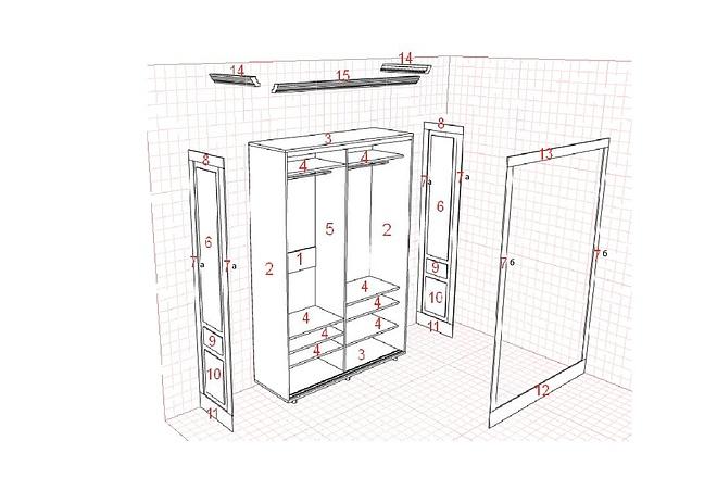 Изготовления проекта для мебели с технической документацией 15 - kwork.ru