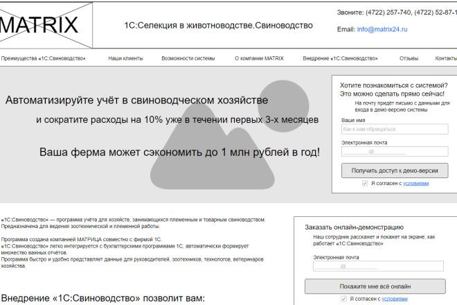 Прототип + текст лендинга 6 - kwork.ru