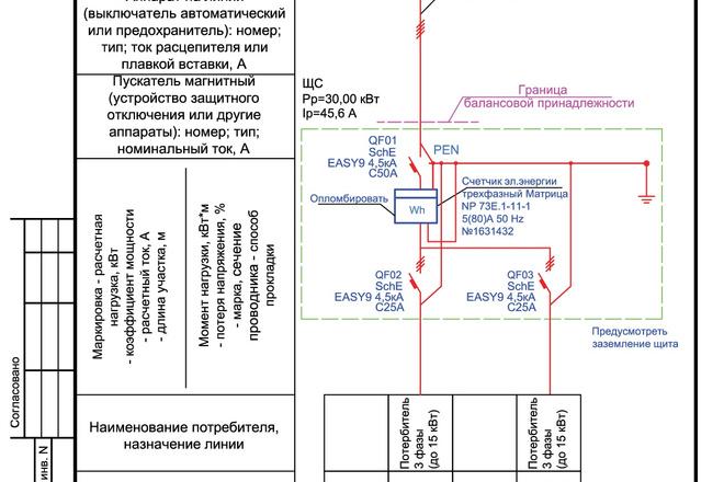 Выполню однолинейную схему электроснабжения 14 - kwork.ru