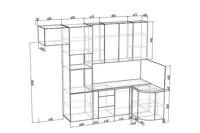 Конструкторская документация для изготовления мебели 88 - kwork.ru