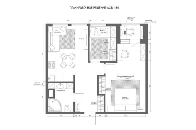 Планировочное решение вашего дома, квартиры, или офиса 53 - kwork.ru