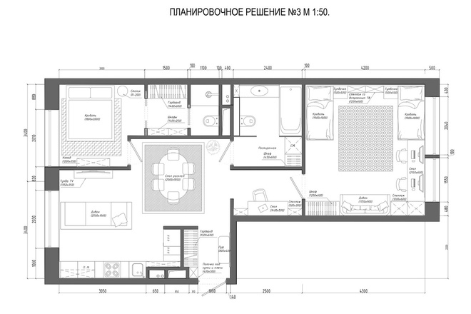 Планировочное решение вашего дома, квартиры, или офиса 52 - kwork.ru