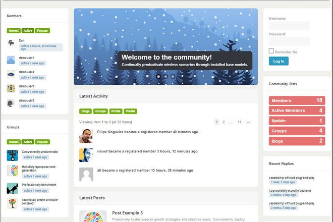 Тема BuddyPress для WordPress на русском с обновлениями 4 - kwork.ru