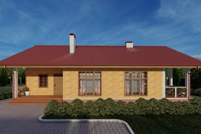 Фотореалистичная 3D визуализация экстерьера Вашего дома 97 - kwork.ru