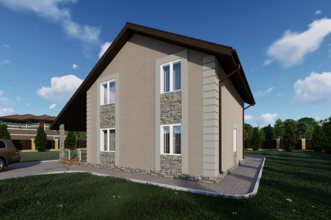 Фотореалистичная 3D визуализация экстерьера Вашего дома 125 - kwork.ru
