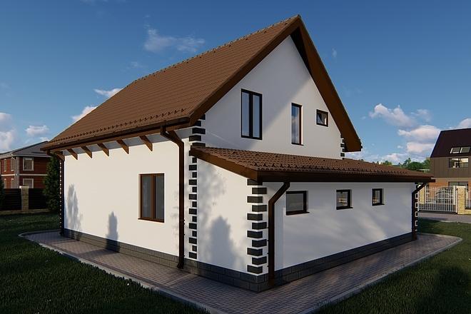 Фотореалистичная 3D визуализация экстерьера Вашего дома 132 - kwork.ru