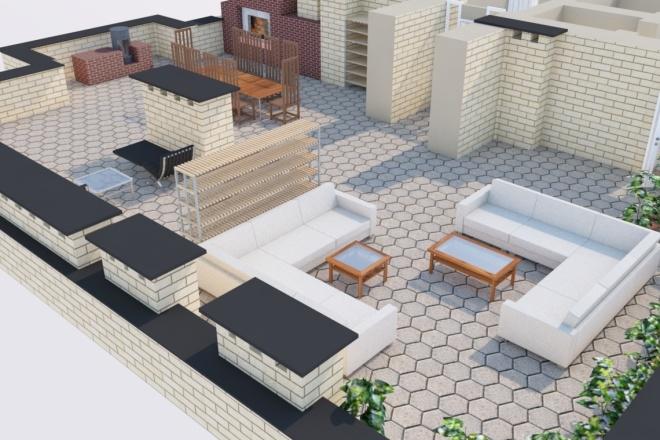 Создам планировку дома, квартиры с мебелью 16 - kwork.ru