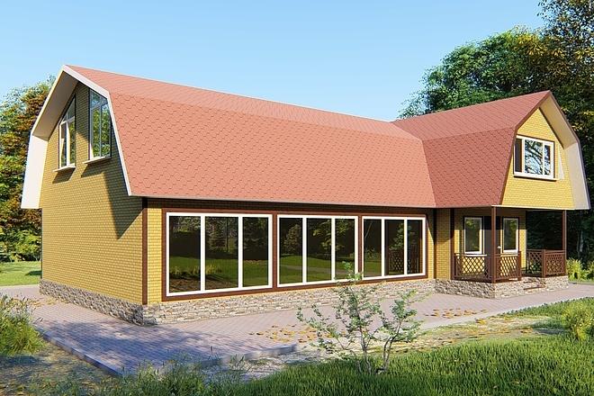 Фотореалистичная 3D визуализация экстерьера Вашего дома 151 - kwork.ru