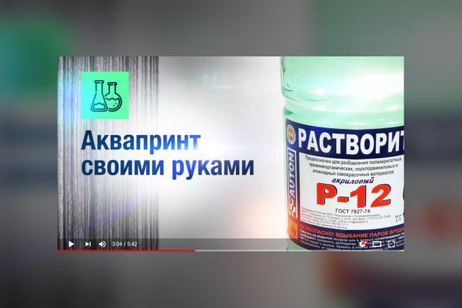 Грамотная обложка превью видеоролика, картинка для видео YouTube Ютуб 28 - kwork.ru