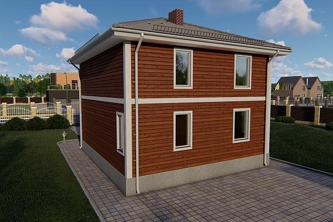 Фотореалистичная 3D визуализация экстерьера Вашего дома 140 - kwork.ru