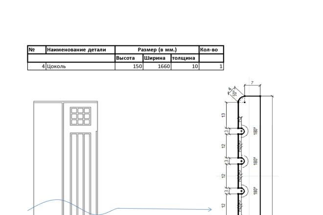 Изготовления проекта для мебели с технической документацией 3 - kwork.ru