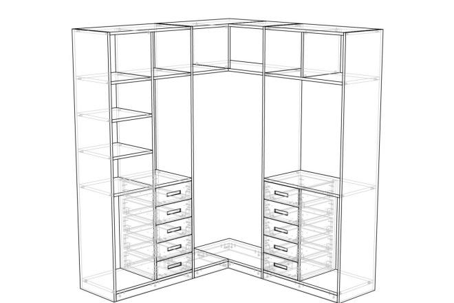 Конструкторская документация для изготовления мебели 55 - kwork.ru
