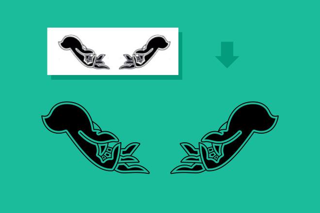 Преобразую в вектор растровое изображение любой сложности 9 - kwork.ru