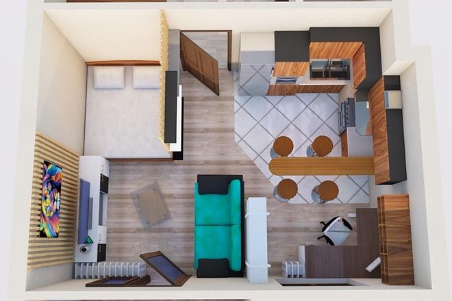 Создам планировку дома, квартиры с мебелью 60 - kwork.ru