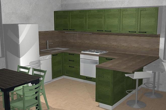 Создам 3D дизайн-проект кухни вашей мечты 9 - kwork.ru