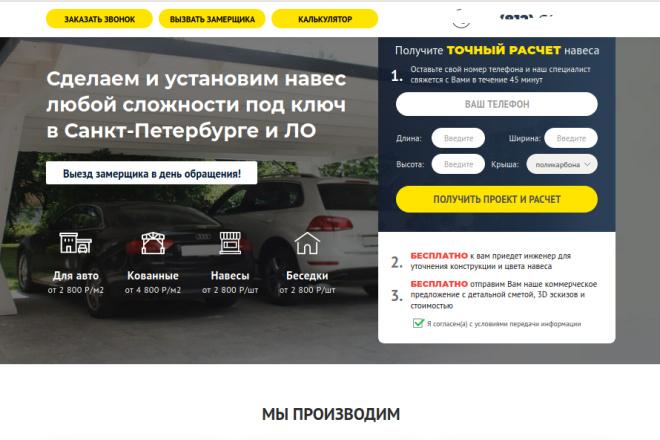 Скопирую страницу любой landing page с установкой панели управления 50 - kwork.ru