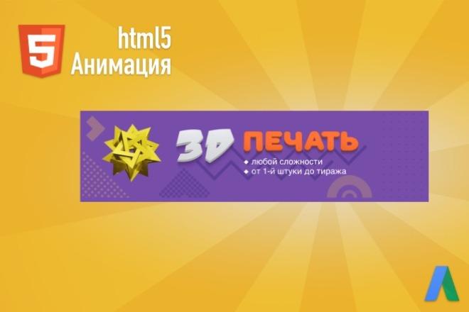 Анимационные HTML5 баннеры для Google Ads 3 - kwork.ru
