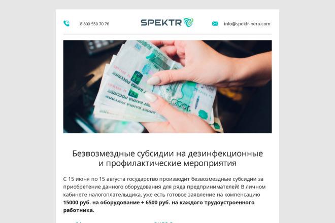 Создание и вёрстка HTML письма для рассылки 2 - kwork.ru
