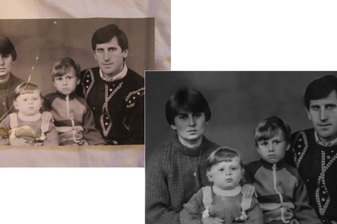 Восстановление и реставрация старых фотографий 1 - kwork.ru