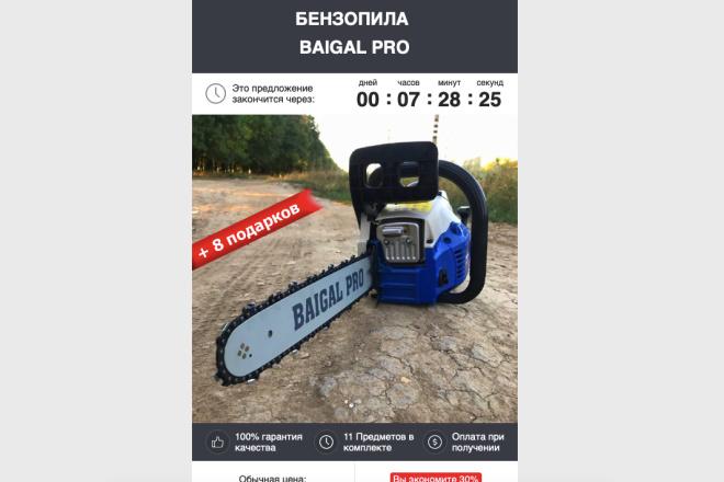 Скопирую Landing page, одностраничный сайт и установлю редактор 74 - kwork.ru