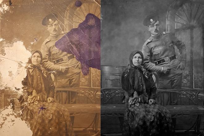 Ретушь фотографий, восстановление утраченных фрагментов 1 - kwork.ru