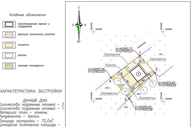 Схема планировочной организации земельного участка - спозу 9 - kwork.ru