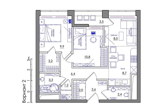 Планировка квартиры или жилого дома, перепланировка и визуализация 29 - kwork.ru