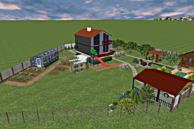 Создам 3D визуализацию ландшафта 1 - kwork.ru